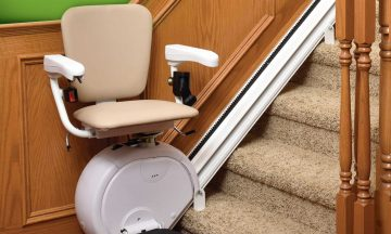 tan chair for stair lift